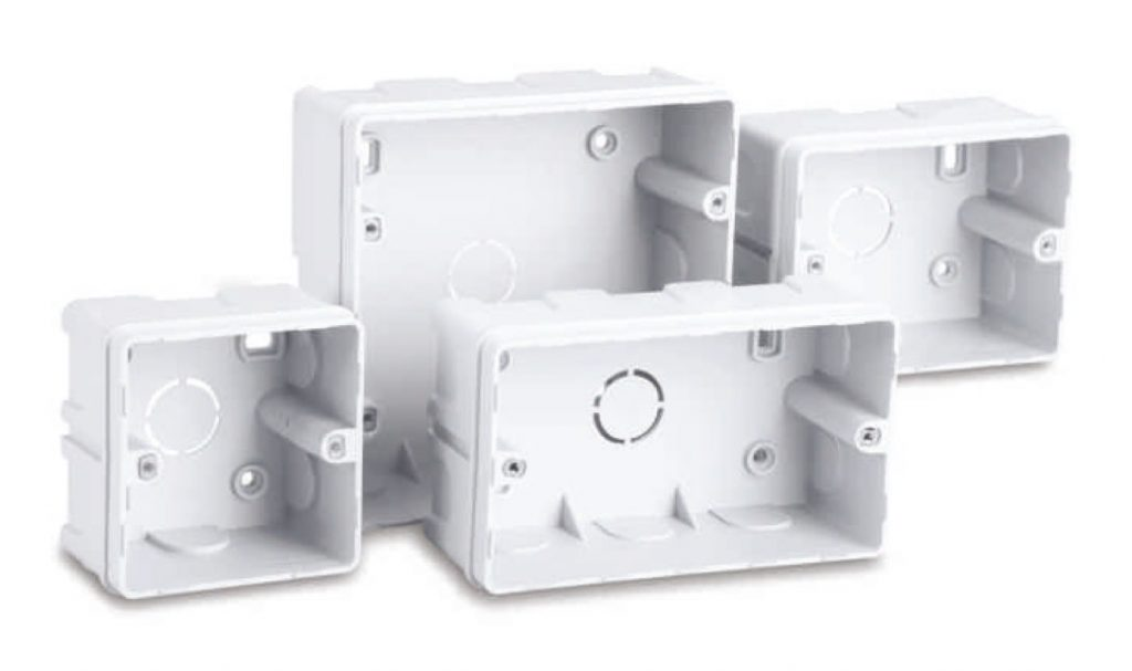 Concealed plastic box