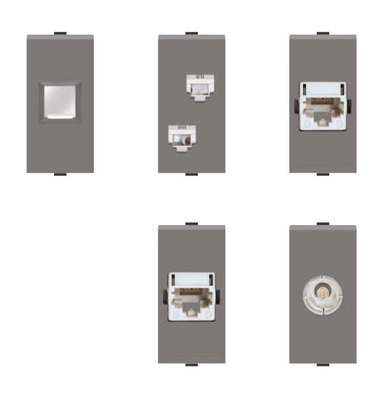 Telephone Soc./Cat 5/Cat 6/TV socket